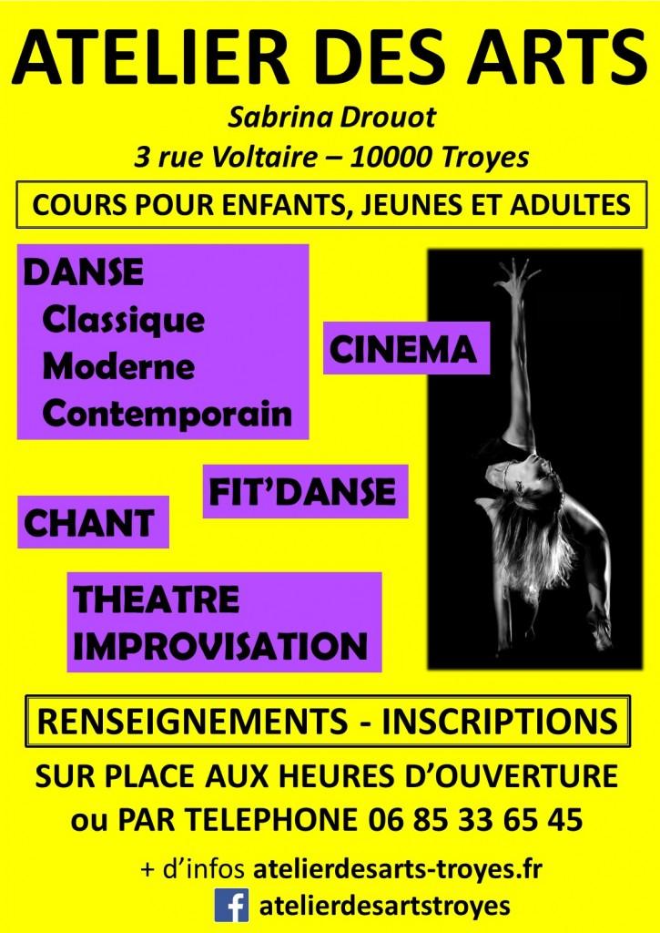 atelier des arts sabrina drouot danse théâtre chant cinéma