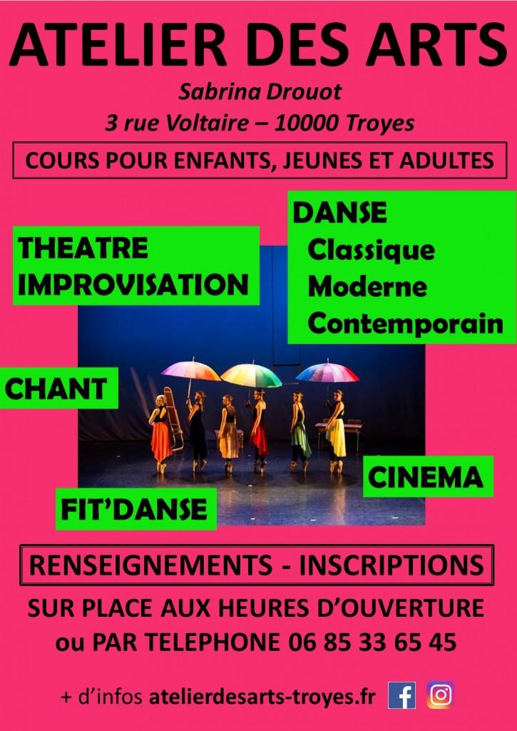 danse theatre impro chant cinema troyes 2021